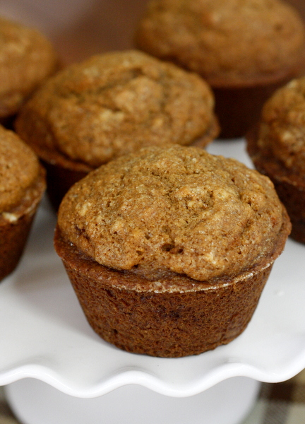 Healthy Gingerbread Muffins - made with whole wheat flour, coconut oil, and maple syrup - so good!!