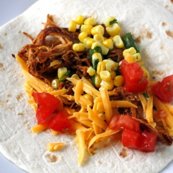Crock Pot Barbecue Chicken Tacos