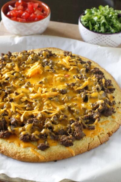 Cornbread Taco Pizza