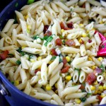 Corn, Bacon, and Parmesan Pasta