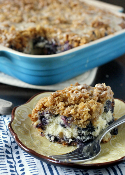 Blueberry Buckle with Lemon Glaze