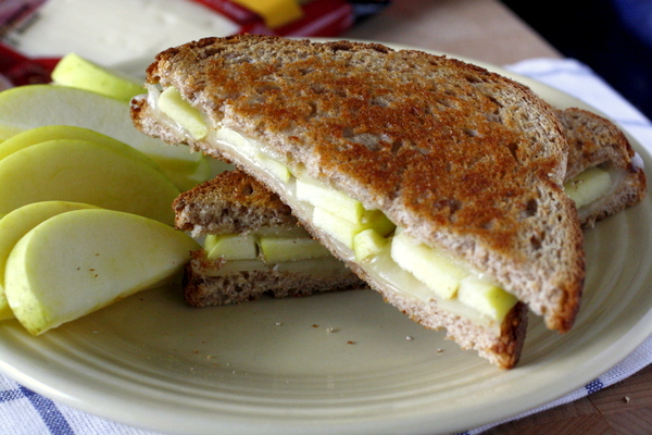 This grilled apple and Swiss cheese sandwich is a delicious sweet and savory take on grilled cheese!