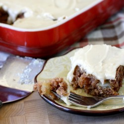 Old Fashioned Apple Cake with Brown Sugar Frosting