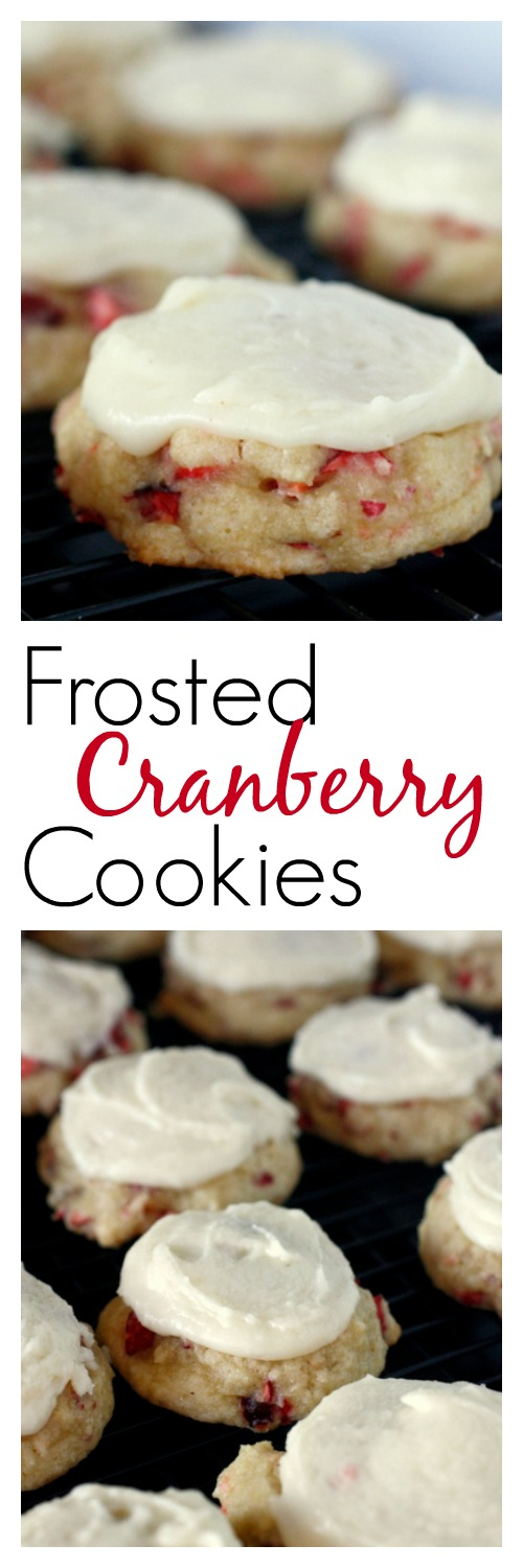 Frosted Cranberry Cookies