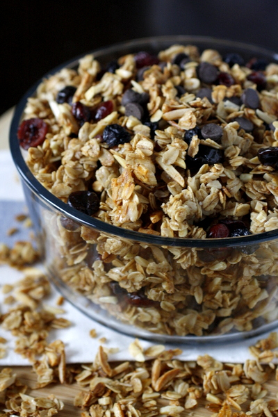Coconut Oil Trail Mix Granola