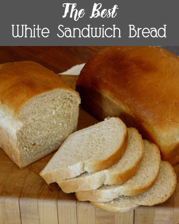 The very best white sandwich bread - slices perfectly and freezes beautifully, and it's sturdy enough for sandwiches!