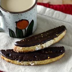 Dark Chocolate Orange Biscotti