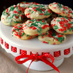 Christmas Sprinkle Sugar Cookies