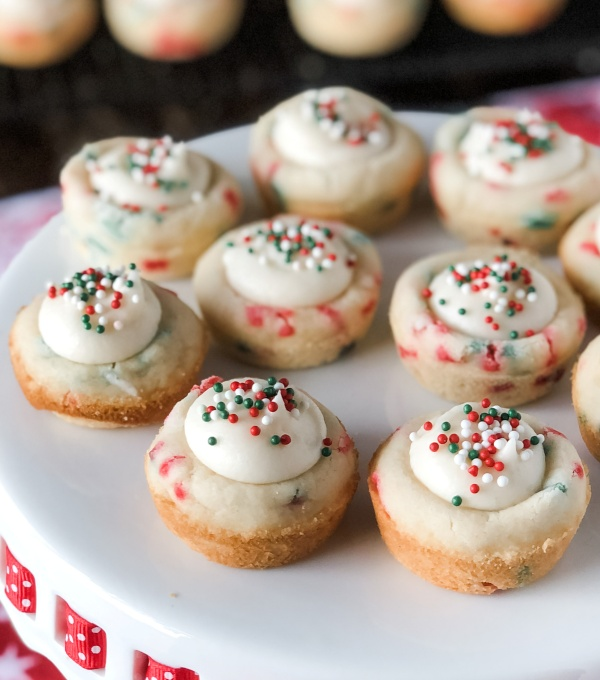 Christmas Sprinkle Cookie Cups